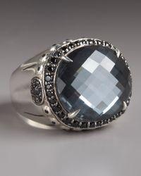 John Hardy | Metallic Bamboo Hematite Ring | Lyst