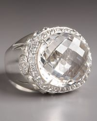 John Hardy | Metallic White Topaz & Sterling Silver Dome Ring | Lyst