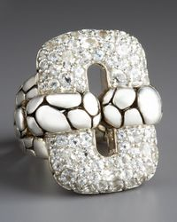 John Hardy | Metallic White Topaz Kali Link Ring | Lyst