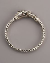 John Hardy | Metallic Naga Smoky Quartz Dragon Bracelet | Lyst