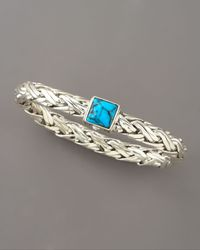 John Hardy | Blue Classic Chain Turquoise Bracelet | Lyst