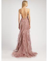 Badgley Mischka | Purple Chiffon Gown  | Lyst