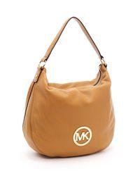 Michael Kors | Brown Large Fulton Shoulder Bag, Tan | Lyst