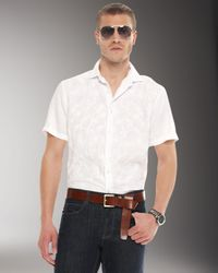Michael Kors | White Embroidered Linen Shirt for Men | Lyst