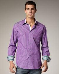 Robert Graham - Purple True Striped Sport Shirt for Men - Lyst