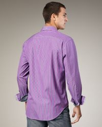 Robert Graham | Purple True Striped Sport Shirt for Men | Lyst