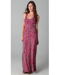 Tory Burch | Pink Jersey Maxi Dress | Lyst