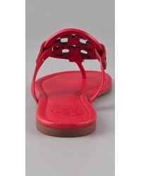 Tory Burch | Red Miller Flat Thong Sandals | Lyst