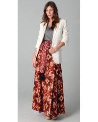 Tory Burch | Brown Federica Skirt | Lyst