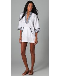 Tory Burch | White Gauze Tunic | Lyst