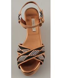 Twelfth Street Cynthia Vincent - Black Dabney Embroidered Sandals - Lyst