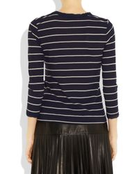A.L.C. | Blue Travis Striped Cotton-jersey Top | Lyst