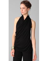 Doo. Ri | Black Draped Halter Top | Lyst