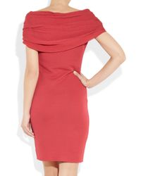 Giambattista Valli | Pink Twist-Front Knitted Dress | Lyst