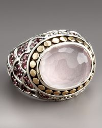 John Hardy | Purple Naga Rose Quartz Ring | Lyst