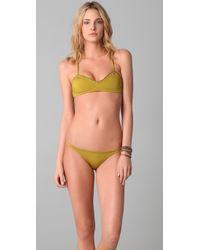 Made By Dawn | Green Sea Shell Bikini Top | Lyst