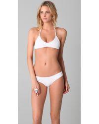 Made By Dawn | White Shell Picker Bikini Top | Lyst