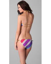 Marc By Marc Jacobs - Multicolor Merida Striped Bandeau Bikini Top - Lyst