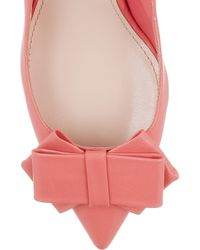 Miu Miu   Pink Bow-embellished Leather Pumps   Lyst