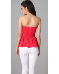 Parker | Red Strapless Bustier Top | Lyst