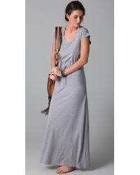 Splendid | Gray Heather Maxi Dress | Lyst