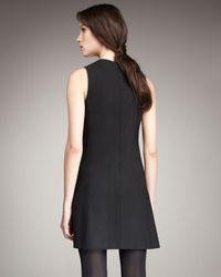 Theory - Black Sleeveless Pleated Dress - Lyst