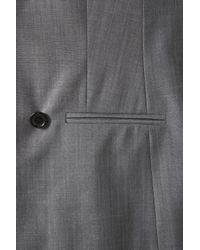 TOPSHOP | Gray Premium Tonic Blazer | Lyst