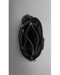 Burberry | Black Medium Bridle Leather Hobo | Lyst
