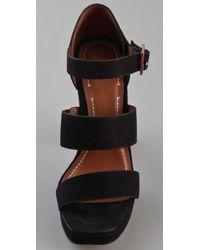 Elizabeth and James | Black Sly Platform Sandals | Lyst