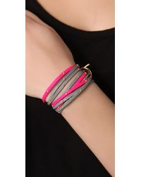 Gorjana - Pink Graham Leather Triple Strand Wrap - Lyst