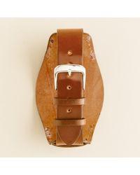J.Crew | Brown Bucktown Shell Cordovan 20mm Bund Pad Watch Strap for Men | Lyst