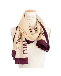 Madewell - Natural Wise Words Storyteller Scarf - Lyst