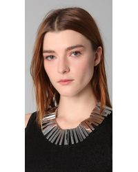 Noir Jewelry - Metallic Modernist Necklace - Lyst