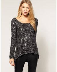 Oasis | Metallic Sequin Top | Lyst