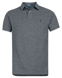 Polo Ralph Lauren | Gray Marl Grey Polo Shirt for Men | Lyst