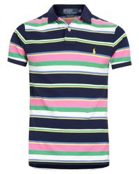 Polo Ralph Lauren - Blue Navy and Multi Stripe Polo Shirt for Men - Lyst