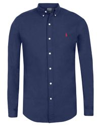 Polo Ralph Lauren - Blue Navy and Red Pony Shirt for Men - Lyst