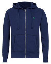 Polo Ralph Lauren | Blue Navy Zip Front Hoodie for Men | Lyst