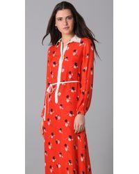Raoul | Orange Long Silk Dress | Lyst