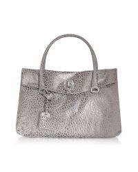Roccobarocco | Metallic Sally - Croco-stamped Satchel Bag | Lyst