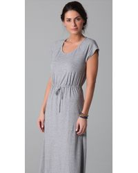 Splendid - Gray Heather Maxi Dress - Lyst