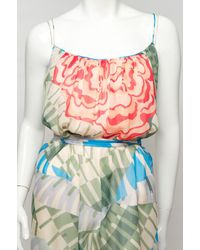 Thakoon - Pink Cabbage Rose Long Tank Dress - Lyst