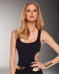Michael Kors | Black Back-strap Bodysuit | Lyst
