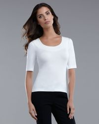 St. John | White Scoop-neck Top | Lyst