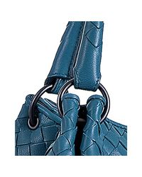 Bottega Veneta - Blue Empire Intrecciato Nappa Leather Parachute Bag - Lyst