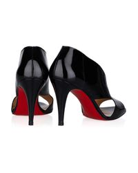 Christian Louboutin | Black Creve Coeur 85 Patent-leather Sandals | Lyst