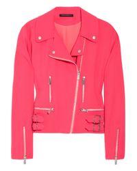Christopher Kane | Pink Wool-blend Crepe Biker Jacket | Lyst