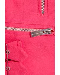 Christopher Kane - Pink Wool-blend Crepe Biker Jacket - Lyst