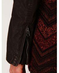Free People | Brown Wax Poplin High Low Jacket | Lyst