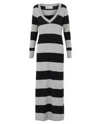 Madeleine Thompson - Silver and Black Stripe Maxi Jumper Dress - Lyst